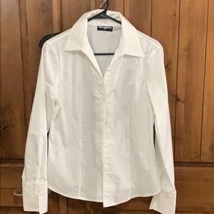 White bottom down shirt